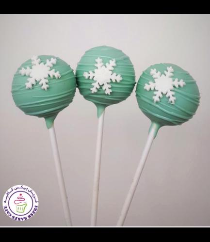 Cake Pops - Snowflakes