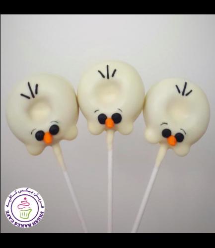 Disney Frozen Themed Donut Pops - Olaf