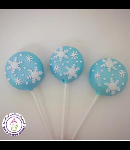 Disney Frozen Themed Donut Pops - Snowflakes
