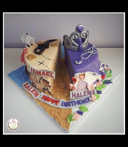 Disney Jake & Sofia the First Themed Cake 01a