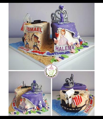 Disney Jake & Sofia the First Themed Cake 01b