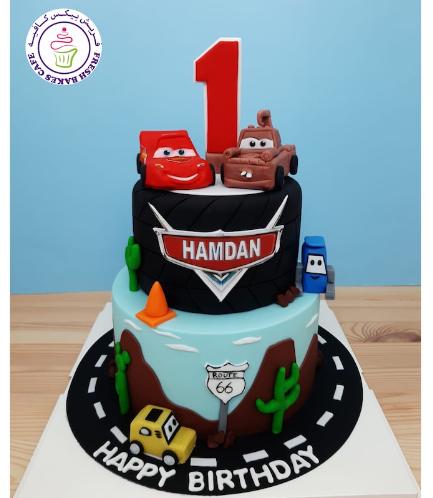 Cake - Disney Pixar Cars - 3D Cake Toppers - 2 Tier 01