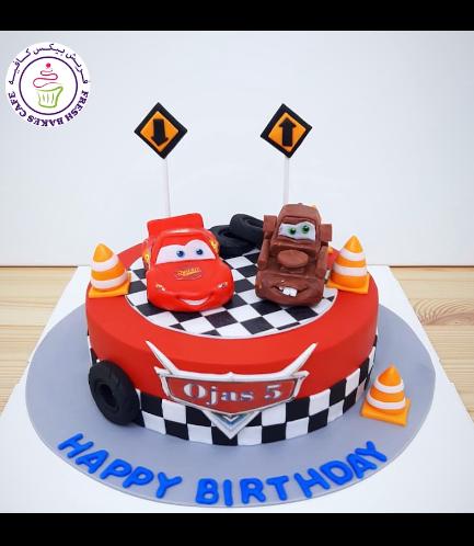Cake - Lightning McQueen & Mater - 3D Cake Toppers - 1 Tier 01