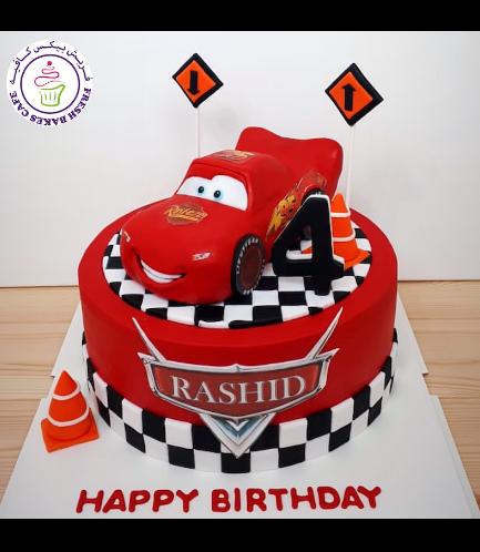 Cake - Lightning McQueen - 3D Cake Topper - 1 Tier 05