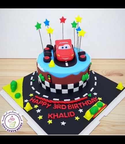 Cake - Lightning McQueen - 3D Cake Topper - 1 Tier 08
