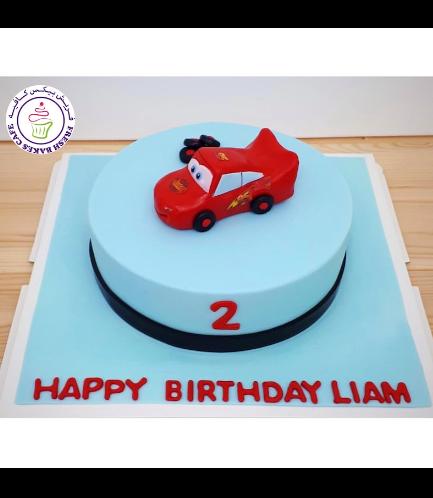 Cake - Lightning McQueen - 3D Cake Topper - Small Car - 1 Tier 04