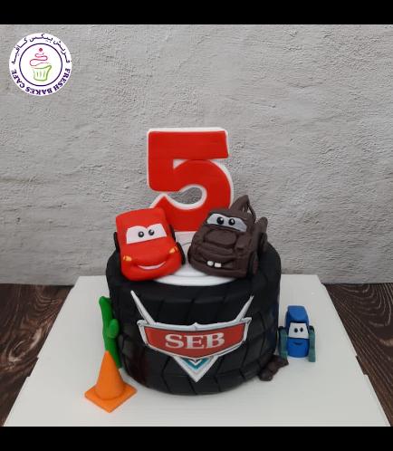Cake - Lightning McQueen & Mater - 3D Cake Toppers - 1 Tier 02