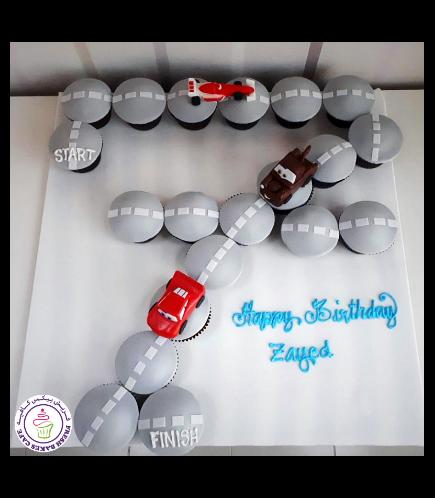 Disney Pixar Cars Themed Cupcakes - Car Race Track #7