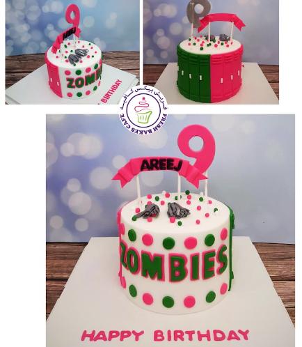 Disney Zombies Themed Cake - 1 Tier