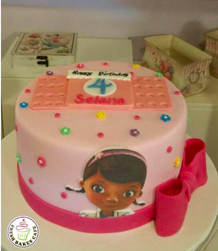 Doc McStuffins Themed Cake - Picture - Printed - Front