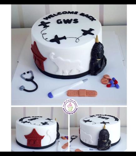 Cake - Doctor & Travel Themed