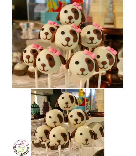 Dog Themed Cake Pops 1