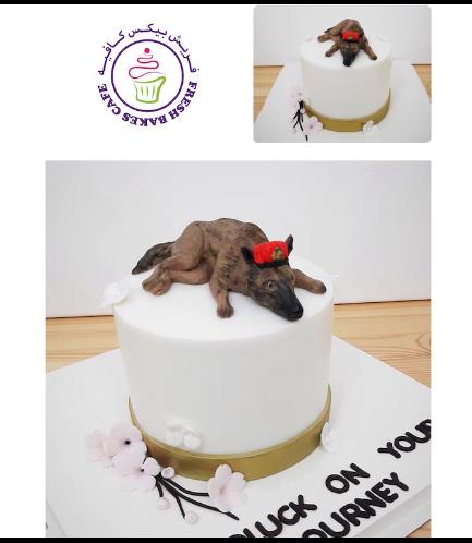 Dog Themed Cake - 3D Cake Topper - German Shepherd