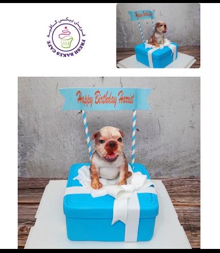 Cake - Square - Dog