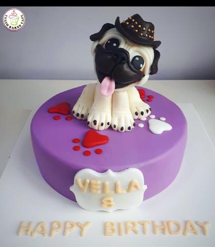 Dog Themed Cake - 3D Cake Topper 03b