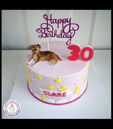 Dog Themed Cake - 3D Cake Topper 08
