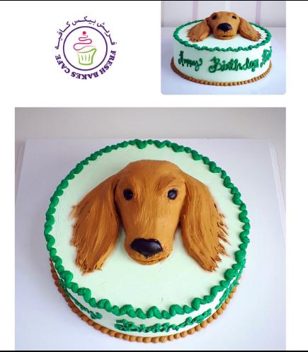 Dog Themed Cake - 2D Cake Topper