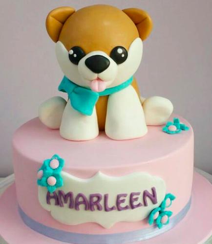Dog Themed Cake 01