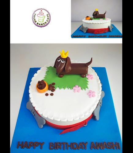 Dog Themed Cake - 3D Cake Topper 05