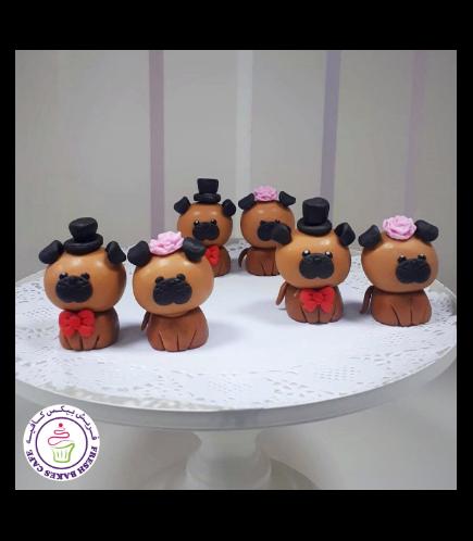 Dog Themed Cake Pops w/o Sticks