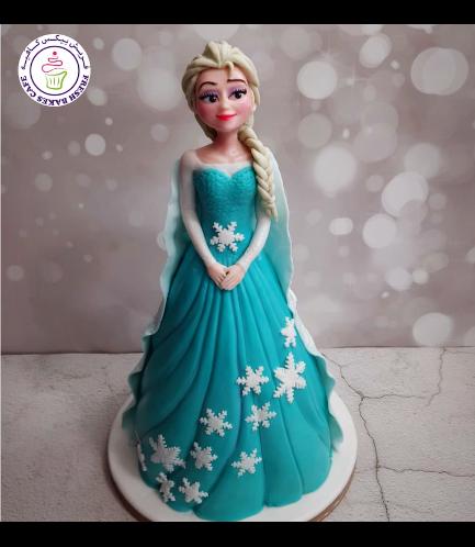 Cake - Doll Cake - Elsa 04