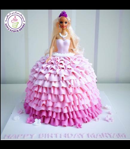 Cake - Fondant Ruffle Cake - Toy 02