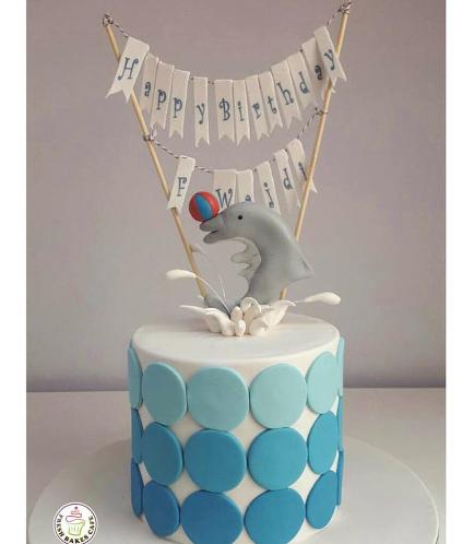 Dolphin Themed Cake