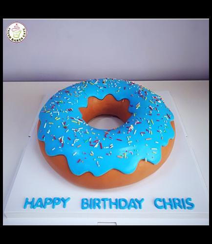 Donut Shaped Cake 02 - Blue