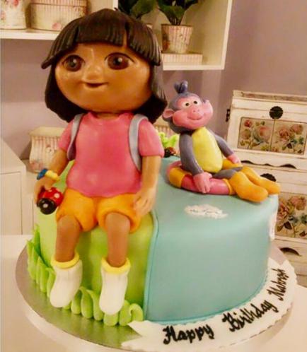 Dora the Explorer Themed Cake - 3D Cake Toppers 01