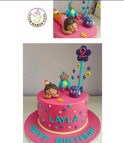 Dora the Explorer Themed Cake - 3D Cake Toppers 02