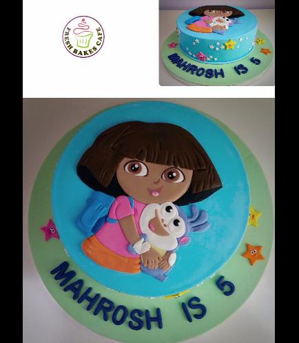 Dora the Explorer Themed Cake - Picture - 2D Fondant 01