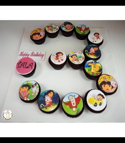Dora the Explorer Themed Cupcakes 02