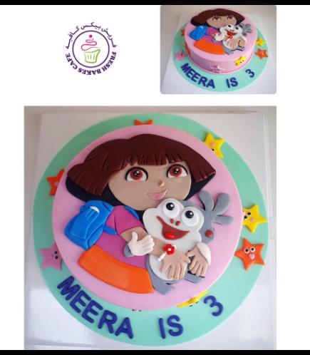 Dora the Explorer Themed Cake - Picture - 2D Fondant 02
