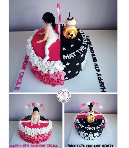 Cake - Ballerina & Star Wars