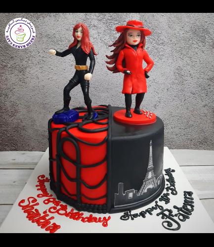 Cake - Black Widow & Carmen San Diego