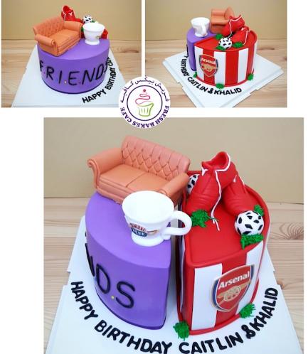 Cake - Friends & Arsenal