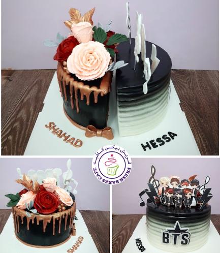 Cake - Roses & BTS