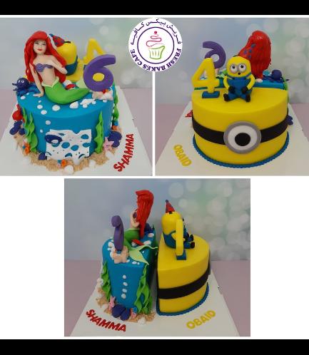Cake - The Little Mermaid & Minions