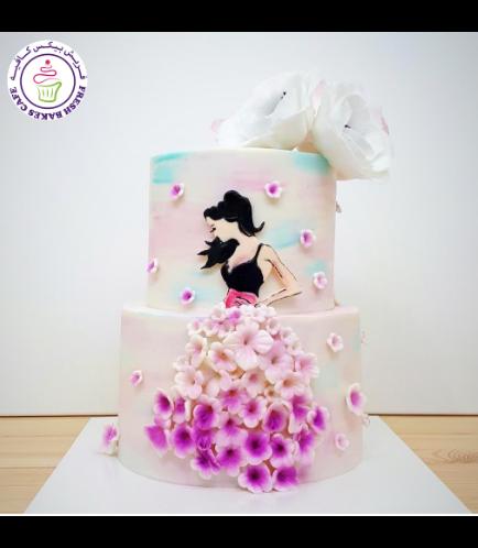 Cake - Flowers - Dress