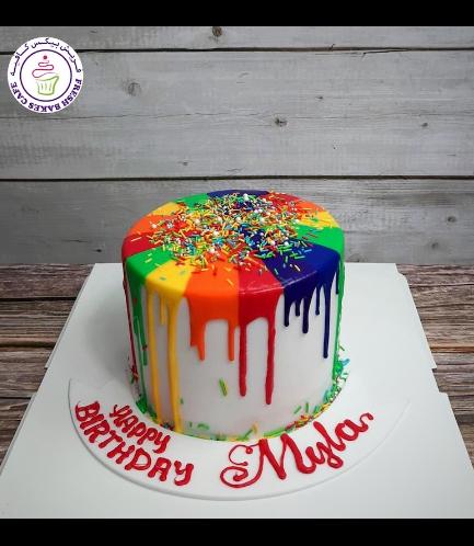 Cake - Rainbow Drizzle
