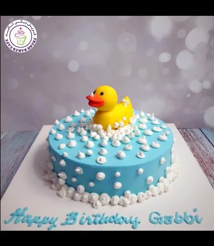 Duck Themed Cake - 3D Cake Topper - Cream Cake