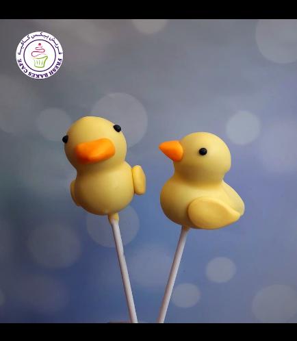 Duck Themed Cake Pops