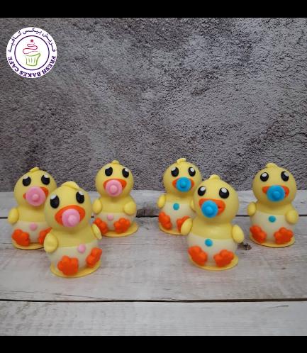 Duck Themed Cake Pops w/o Sticks - Babies 01