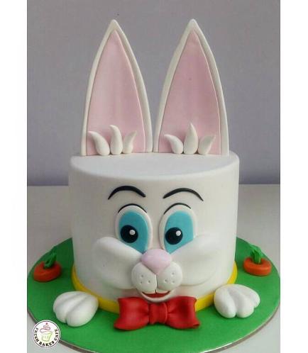 Rabbit Themed Cake - 2D Cake - Fondant 01