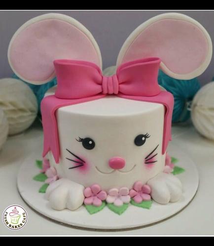 Cake - Rabbit - 2D Cake - Fondant 04