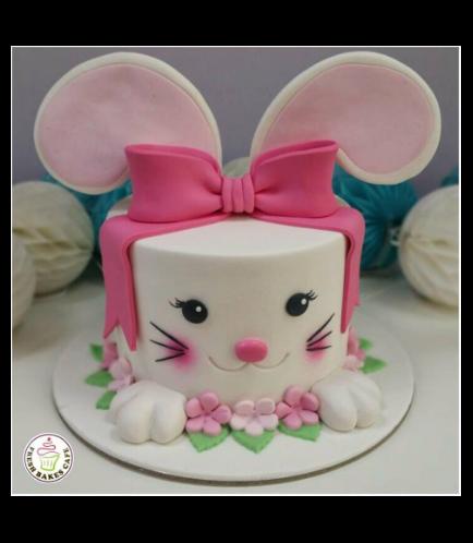 Rabbit Themed Cake - 2D Cake - Fondant 02