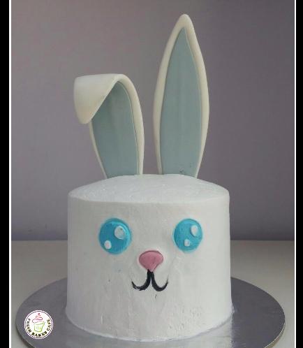 Rabbit Themed Cake - 2D Cake - Cream 01