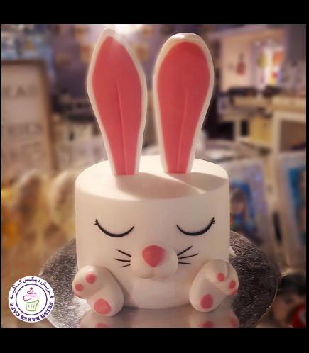 Cake - Rabbit - 2D Cake - Fondant 01