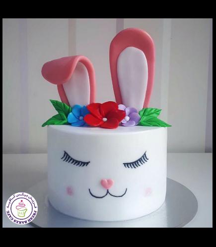 Cake - Rabbit - 2D Cake - Fondant 02