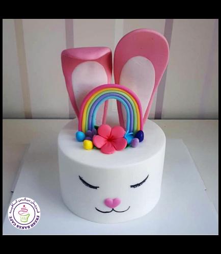 Cake - Rabbit - 2D Cake - Fondant 06